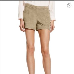 Vince Camuto tan suede like shorts size 4